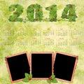 Calendario con los marcos retros de una foto Fotografía de archivo libre de regalías