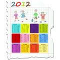 Calendario per 2012 Fotografia Stock