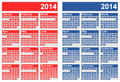 Calendars vector illustration of in two different color versions Royalty Free Stock Image