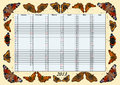 Calender 2013 January - June with Butterflies Stock Photos
