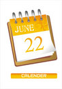 Calender illustration Stock Photography