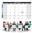 Calender Planner Organization Management Remind Concept Royalty Free Stock Photo