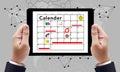 Calender planner organization management remind concept Stock Image