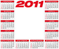 Calendrier 2011 de vecteur Photo stock