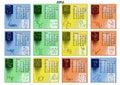 Calendrier 2012 avec des signes de zodiaque Image libre de droits