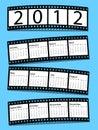 Calendrier de bande de 2012 films Photo libre de droits