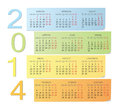 Calendrier de couleur du Russe 2014 Photo libre de droits