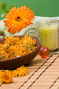Calendula spa set Stock Photography