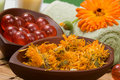 Calendula spa set Stock Photo