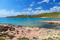 Caletta beach carloforte view of bay in san pietro island sardinia italy Royalty Free Stock Images