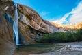 Calf Creek Falls, Calf Creek Canyon, Grand Staircase-Escalante N Royalty Free Stock Photo