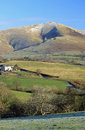 The Calf, Howgill fells from Beckfoot, Cumbria. Royalty Free Stock Photos