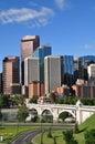Calgary, Bow River Royalty Free Stock Photo