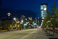 Calgary Downtown at night, Canada Royalty Free Stock Image
