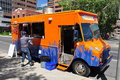 Calgary, Food Fighter food truck Stock Image