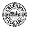 Calgary grunge rubber stamp Royalty Free Stock Photo