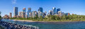 Calgary s skyline on a beautiful spring day is the corporate centre of the oil industry in canada Stock Image
