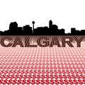 Calgary skyline dollar symbols Royalty Free Stock Photo