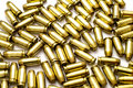 .40 Caliber Bullets on White Royalty Free Stock Photo