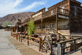 Calico, California, USA - July 1, 2015: The old wooden saloon in the ghost town of Calico Royalty Free Stock Photo