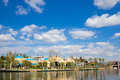 California adventure lake anaheim usa february at in disneyland Royalty Free Stock Photos