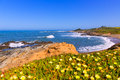 California bean hollow state beach in cabrillo hwy highway on route san mateo Stock Photography