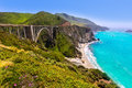 California bixby bridge in big sur monterey county in route along state us Royalty Free Stock Image