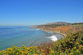 California coast view of the pacofoc from cabrillo beach park san pedro ca Stock Images