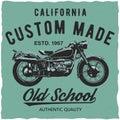California Custom Made Poster