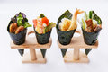 California Hand Roll Sushi Set. Royalty Free Stock Photo