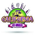 California - Los Angeles - badge - icon Royalty Free Stock Photography