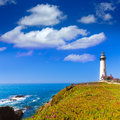 California pigeon point lighthouse in cabrillo hwy coastal hwy highway state route Stock Image