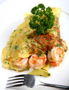 California prawn omlette Royalty Free Stock Image