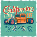 California Racers Poster