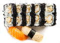 California Roll with Masago Royalty Free Stock Photo
