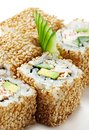 California Roll with Sesame Stock Images