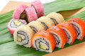 California rolls , maki sushi , japanese food Stock Images