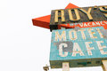 California,the Roy`s motel sign