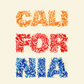 California typography, t-shirt graphics, vector