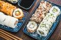 California vegetarian rools, japanese cuisine Royalty Free Stock Photo