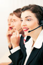 Call center agents Stock Photos