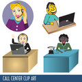 Call Center Clip Art Stock Images
