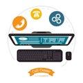 Call center computer assistance online