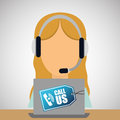Call center design. customer service icon. illustration , vector