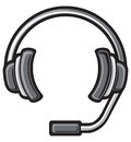 Call center headset Stock Images