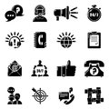 Call center icons set, simple style Royalty Free Stock Photo