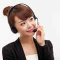 Call center operator business woman Royalty Free Stock Image