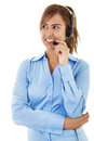 Call center operator stock image of female Stock Image