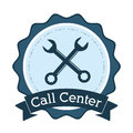 Call center support technical badge