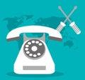 Call center telephone world support
